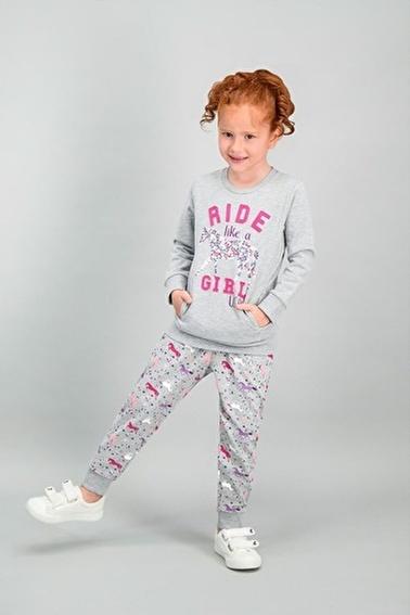 U.S. Polo Assn. U.S. Polo Assn Lisanslı Grimelanj Kız Çocuk Eşofman Takımı Gri